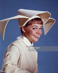 American actor Sally Field in costume as Sister Bertrille in a promotional portrait for the television series, 'The Flying Nun'.
