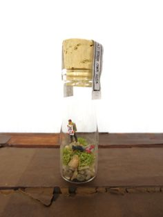 Zombie terrarium.  Holiday gift idea for guys.