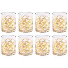 Rosanna La Cite Double Old-Fashioned Glasses Set of 8 RI95512