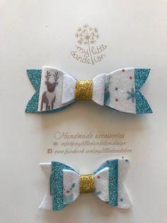 Reindeer bow Christmas set of 2
