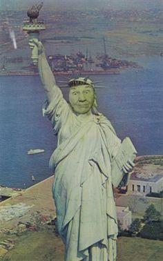Ridiculous Portrait (Statue of Liberty) - May Wilson - Feminist Art, Pop Art, 1972