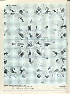 Gallery.ru / Фото #16 - filet crochet - ozcihan Filet Crochet Charts, Knitting Charts, Cross Stitch Charts, Crochet Stitches, Cross Stitch Patterns, Crochet Patterns, Knitting Patterns, Cross Stitching, Cross Stitch Embroidery