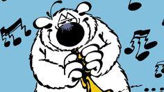 Détail de la couverture de l'intégrale 2 de Cubitus de Dupa Snoopy, Fictional Characters, Comic Art, Color, Fantasy Characters