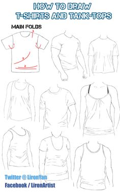 How to draw T-SHIRTS and TANK-TOPS: Some reference! (=  Learn more: https://www.udemy.com/draw-folds-clothes/?couponCode=FLLFIRST