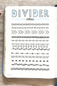 Best Bullet Journal Divider Ideas For 2020 - Crazy Laura Need to break up the different sections of your weekly spreads and need some ideas? Check out these awesome bullet journal dividers for inspiration! Bullet Journal School, Bullet Journal Dividers, Bullet Journal Headers, Bullet Journal Lettering Ideas, Bullet Journal Banner, Bullet Journal Notebook, Bullet Journal Inspo, Bullet Journal Ideas Pages, Journal Pages