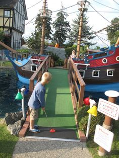 Paradise Adventure Mini Golf in Parksville on Vancouver Island