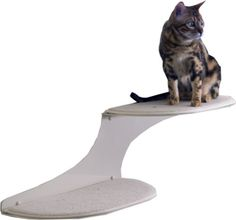 The Refined Feline Cat Cloud Cat Shelves in Off-White, Right Facing ** Want to know more, click on the image. #CatsBedsFurniture