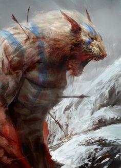 Roar of death, Antonio J. Manzanedo on ArtStation at https://www.artstation.com/artwork/VYR4R