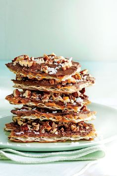 Take a crack at this Southern spin on a traditional Passover treat. But it's not only relegated to the holiday. In fact, you can make this sweet snack year-round using saltine crackers for a crispy, salty base that makes the chocolate and pecans pop in your mouth. So do yourself a favor and indulge!  Recipe: Salted Chocolate Matzo Madness Toffee