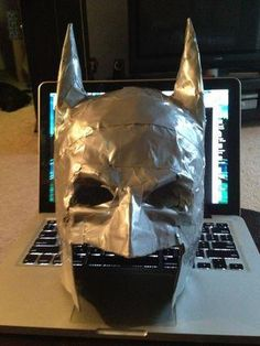 DIY Duct Tape Batman Mask : I totally just made this right now. This is a great tutorial, and I can't wait to wear my mask on Thursday!!