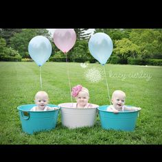 Birthday picture- do this for twins or triplets!