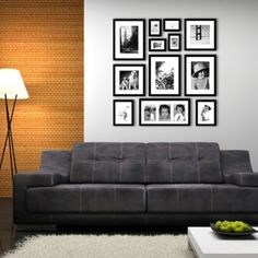 Acaza Toronto Fotomuur IV - Met 12 Fotolijsten - Zwart - Inclusief Uitneembare Passe-Partout Gallery Wall Layout, Van Home, Living Room Shelves, Creative Home, New Room, Frames On Wall, Room Inspiration, Diy Home Decor, Sweet Home