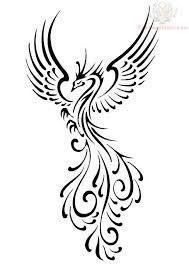 Black Phoneix Tattoo Design