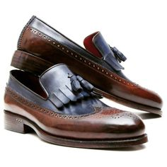 PAUL PARKMAN KILTIE TASSEL LOAFER DARK BROWN &... | Men's Luxury Shoes by PAUL PARKMAN