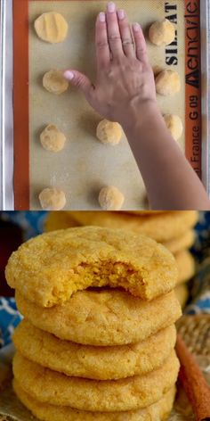 These perfect Pumpkin Sugar Cookies are nice and crisp on the outside and buttery soft on the inside. These perfect Pumpkin Sugar Cookies are nice and crisp on the outside and buttery soft on the inside. Pumpkin Sugar Cookies, Sugar Cookie Recipe Easy, Chewy Sugar Cookies, Rolled Sugar Cookies, Pumpkin Dessert, Buttery Cookies, Molasses Cookies, Baking Recipes, Cookie Recipes