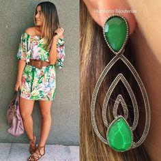 #brinco #earring #verde #streetstyle #grafite #humbertobijouterias