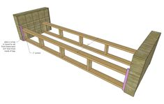 Wood Sofa Frame Plans - Tips Cepat Wood Frame Couch, Futon Bed Frames, Wooden Sofa Set, Wood Sofa, Diy Storage Couch, Diy Couch, Wood Storage, Sofa Furniture, Cheap Furniture