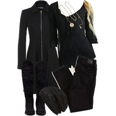 Allison Inspired All Black Outfit with Requested Shirt by veterization on Polyvore featuring Free People, Miss Selfridge, American Eagle Outfitters, Forever 21, Accessorize, LowLuv and King & Fifth Supply Co. Teen Wolf Outfits, Female Outfits, Dress Outfits, Fashion Outfits, Womens Fashion, Dresses, Classy Outfits, Cool Outfits, Red Jeans