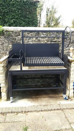 The Rivero - Solus Grills Outdoor Grill Area, Outdoor Barbeque, Pizza Oven Outdoor, Fire Pit Grill, Fire Pit Backyard, Backyard Bbq, Custom Bbq Smokers, Custom Bbq Pits, Brick Built Bbq