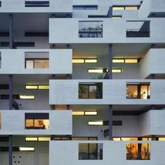 Paul Clairmont Strasse Housing: Architect: Gmur & Steib Architekten Location: Zurich, Switzerland Project Year: 2006 The room sized balconies offer extra room to the residents and allow daylight to penetrate into the apartments.