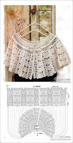 Crochet cape – Fashion World Crochet Cape Pattern, Poncho Au Crochet, Crochet Shawl Diagram, Bonnet Crochet, Mode Crochet, Crochet Diy, Crochet Poncho Patterns, Crochet Collar, Crochet Woman
