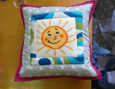 sun patchwork pillow / poduszka ze słońcem