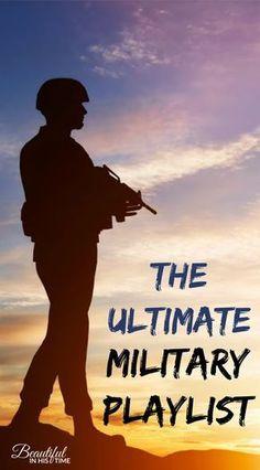 The ULTIMATE Military Playlist! 32 Patriotic Songs for Military Members and Military Wives - military playlist - military spouses - patriotic - 4th of July - Memorial Day - veterans - deployment playlist #milspouse #playlist