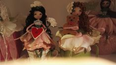 These are of to America by me at cotton and rose handmade Flower Fairies, Fairy, America, Dolls, Christmas Ornaments, Holiday Decor, Rose, Flowers, Cotton