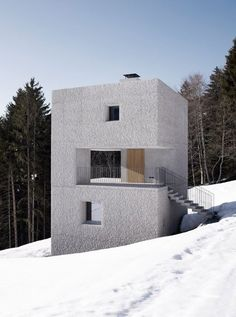 A wonderful get away tower based on three squares Pictures - Mountain Cabin in Laternser Valley - Architizer
