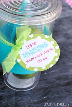 Teacher Appreciation Ideas: It's So Refreshing To Have a Great Teacher Like You!