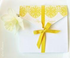 Yellow Lace Wedding Invitation Http://imperatrizata.blogspot.com/