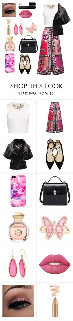 """Untitled #166"" by fllodeea ❤ liked on Polyvore featuring Ted Baker, Emilio Pucci, Jimmy Choo, Casetify, Tory Burch, Luna Skye, Lime Crime and Marc Jacobs"