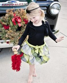 New Green Plaid Holiday Dress4 to 6