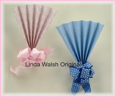"Linda Walsh Originals Dolls and Crafts Blog: Linda's How-Do-I Series? How To Make A 9"" by 15"" Baby Shower Fan and Bow Decoration Free E-Book Tutorial"