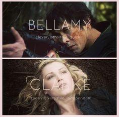 // Bellarke // The 100 // The CW // Bellamy and Clarke //