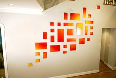 A custom abstract wall sculpture on wood panels by Rosemary Pierce…