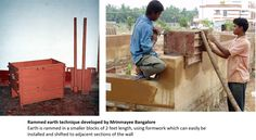 Rammed Earth Technique Developed by Mrinmayee Bangalore
