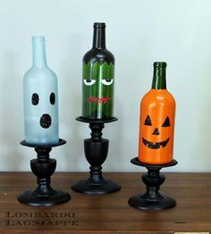 10 Spooky Halloween Decor Ideas! #crafts #diy #fall #holiday #home #october #bottles #pumpkin #ghost