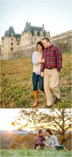 Fall engagement photos in Asheville, NC  BILTMORE ESTATE
