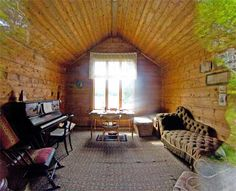 Interior of Edvard Grieg's composing hut at Troldhaugen - Bergen, Norway.