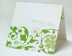 Green wedding invitations printed with a vine pattern Ideal for a country wedding. Wedding Card Messages, Wedding Poems, Wedding Cards, Diy Wedding, Wedding Music, Wedding Flowers, Wedding Hair, Wedding Bouquets, Lace Wedding