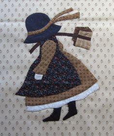 Le vent de l'automne souffle chez PassionPatchwork…. Petite illustration avec les « old fashioned Sunbonnets » de Betty Alderman : Septembre et Octobre C'est…