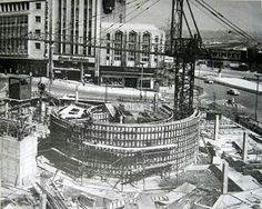 The Rotunda under construction, Birmingham UK Sutton Coldfield, Walsall, Birmingham England, 2nd City, West Midlands, Yesterday And Today, Old Pictures, Old Town, Paris Skyline