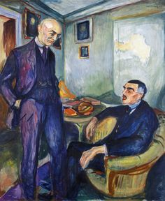 Lucien Dedichen and Jappe Nilssen, 1925-26 by Edvard Munch (Norwegian 1863–1944)