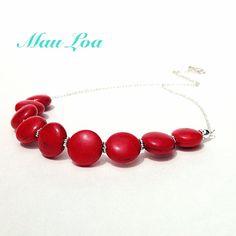 Red stone statement necklace  fine jewelry  all by MauLoaJewelry, $58.00