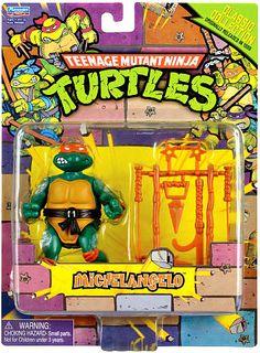 Michelangelo Action Figure Retro Teenage Mutant Ninja Turtles 1987