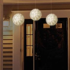 3 Pack Indoor/Outdoor Super Bright White LED Lighted Sphere Christmas Decoration