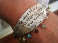 "@shopSCAD ""and she lived happily ever after...at last she was home"", vtg spoon bracelet by #SCAD alum Kathryn Riechert, $60"