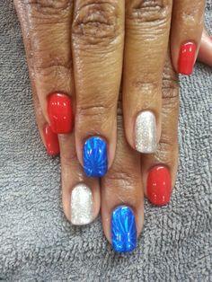No chip mani july 4th nails