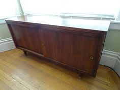Mid Century Sliding Door Credenza (restored): SOLD